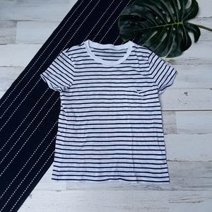 Madewell| Crew Neck Short Sleeve Striped Top XS